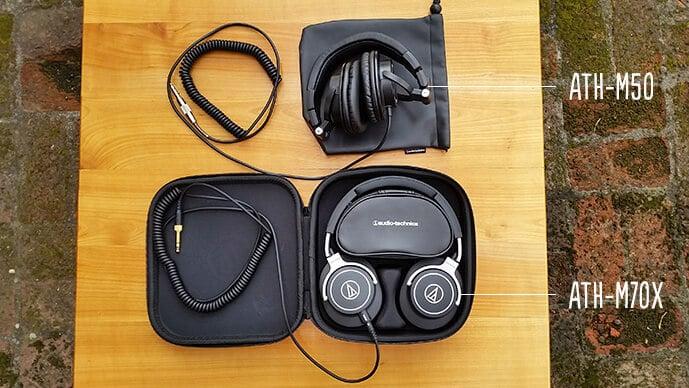 Audio-Technica ATH-M50 és Audio-Technica ATH-M70x