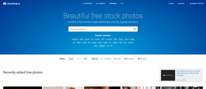 Stocksnap.io ingyenes stock fotó oldal